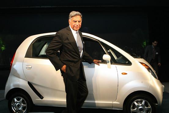 Mr.Ratan Tata with the Nano